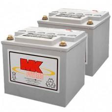 MK Battery 12V 40AH Sealed Led Acid Batteries (Pair)