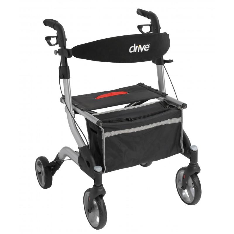 Dlite Rollator Walker With 8 Quot Wheels And Loop Brakes